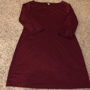 Old Navy Classic Maroon Dress